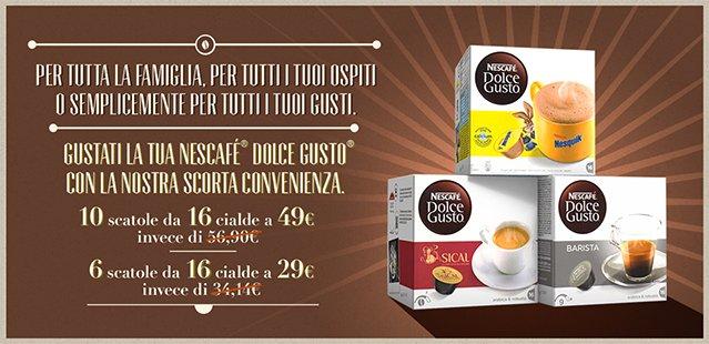 Nescafé® Dolce Gusto® promozione cialde