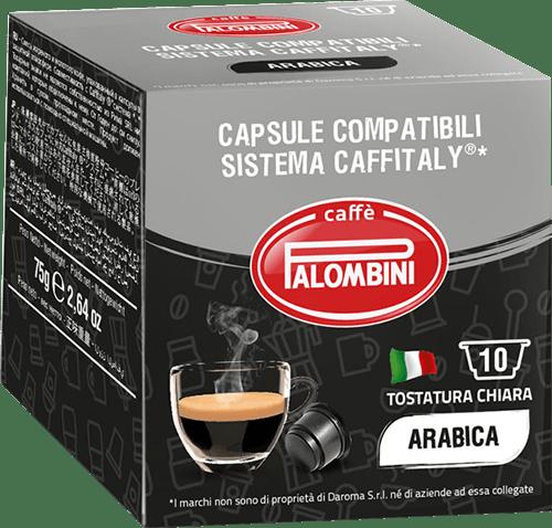 10 capsule Arabica Caffè compatibili Caffitaly