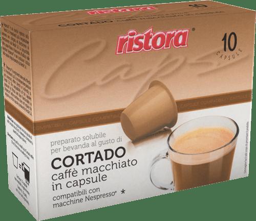 10 capsule Cortado Macchiato Compatibili Nespresso
