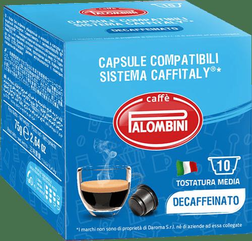 10 capsule Decaffeinato Caffè compatibili Caffitaly