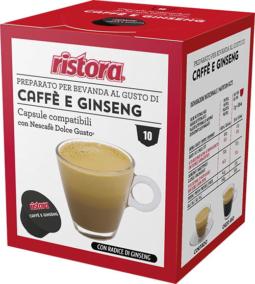10 capsule Caffè e Ginseng compatibili Dolce Gusto